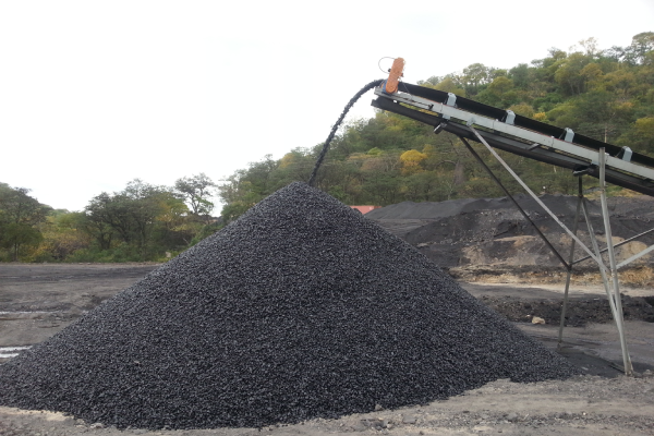 2. Coal stacking stringer conveyor