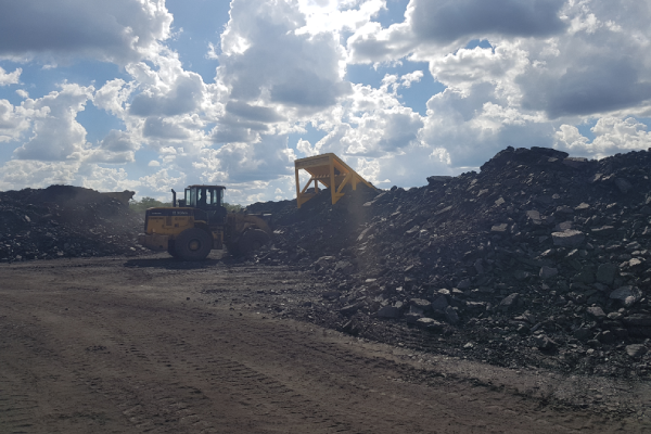 Coal ROM grizzly scalping at 300mm