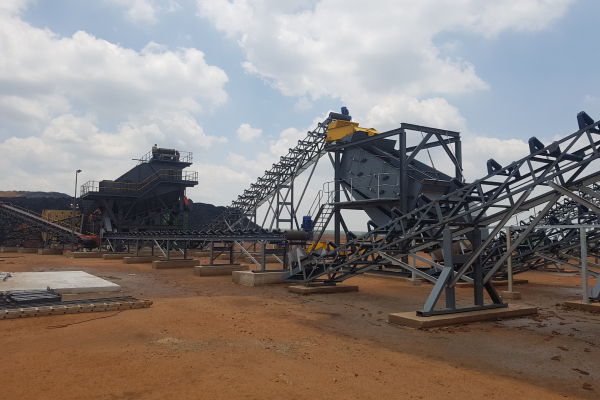 double deck high frequency screen for coal